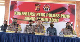 Polres Pidie Gelar Konferensi Pers Akhir Tahun 2020