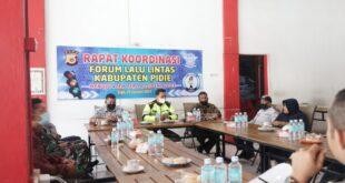 Rapat Koordinasi Forum Lalu Lintas Kab. Pidie Menuju Aceh Zero Accident Tahun 2021