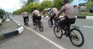 Sat Sabhara Polres Pidie  Lakukan Patroli Dialogis Dengan Bersepeda