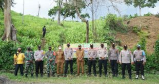 Ketahanan Pangan Tanaman Kunyit, Kapolres Pidie Kunjungi Kampung Tangguh Aceh di Gampong Pako Kec. Keumala