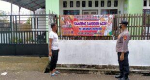 Personil Polsek Mila Melaksanakan Giat Saweu Gampong Tangguh Aceh