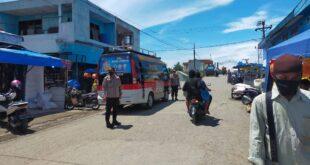 Sat Binmas Polres Pidie Melaksanakan Protokol Kesehatan Kepada Masyarakat Pidie