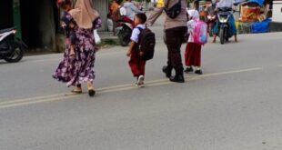 Polsek Grong-grong Melaksanakan Pengamanan Serta Gatur Protap 01